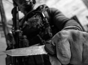 Gerber Auto Propel Tactical Black Tanto Serrated