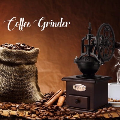 Ferris Wheel Design Vintage Manual Coffee Grinder With Ceramic Movement Retro Wooden Coffee Mill For Home Decoration - Kitchendayz