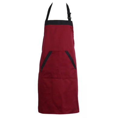 Unisex Halterneck Cooking Baking Aprons Catering Home House Kitchen Apron Aprons with 2 Pockets for Chefs - Kitchendayz