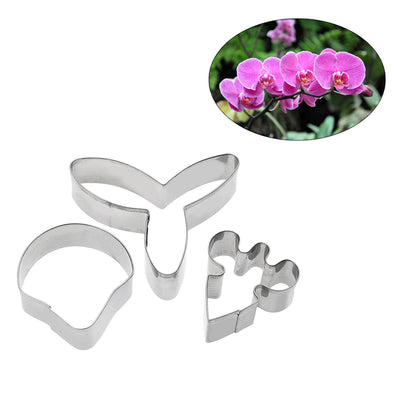 3pcs/set Butterfly Orchid Sugar Flower Cake Mold Fondant Biscuit Cookie Cutter Wedding Cake Decorating Tools DIY Bake Mould - Kitchendayz