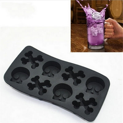 Hot Creative Skull Silicone Cake Mold Mould Home Ice  Cube Tray Chocolate Funny Kitchen Tools Color Randomly - Kitchendayz