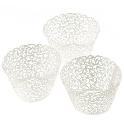 Super Deal 60pcs/pack New! Little Vine Lace Laser Cut Cupcake Wrapper Liner Baking Cup Muffin XT - Kitchendayz