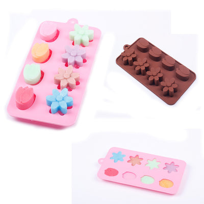 New 3D 15-Tulip Flower Silicone Ice Cube Chocolate Cake Cookie Soap Mould Mold - Kitchendayz