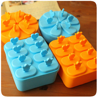 High Quality Lolly Mould Tray Pan Kitchen Randomly color 6 Cell Frozen Ice Cube Molds Popsicle Maker DIY Ice Cream Tools #242485 - Kitchendayz