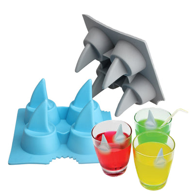 Brand New Drink Ice Tray Cool Shark Fin Shape Ice Cube Freeze Mold Ice Maker Mould - Kitchendayz