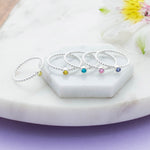 Beaded Birthstone Ring