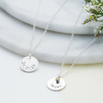 Birthstone Name Disc Necklace