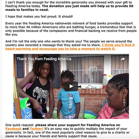 Stupidamerican.us first donation to Feeding America