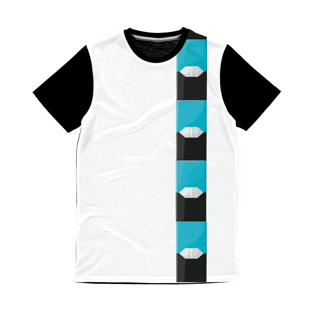 Menthol Pod Classic Sublimation Panel T-Shirt - Creating A Brighter Place