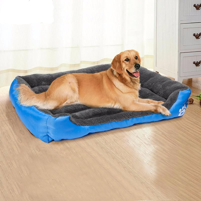 Soft Multicolored Dog Bed