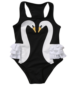Swan One-Piece Swimsuit