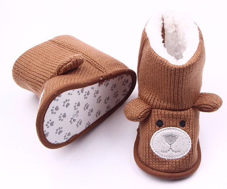 Knitted Bear Booties