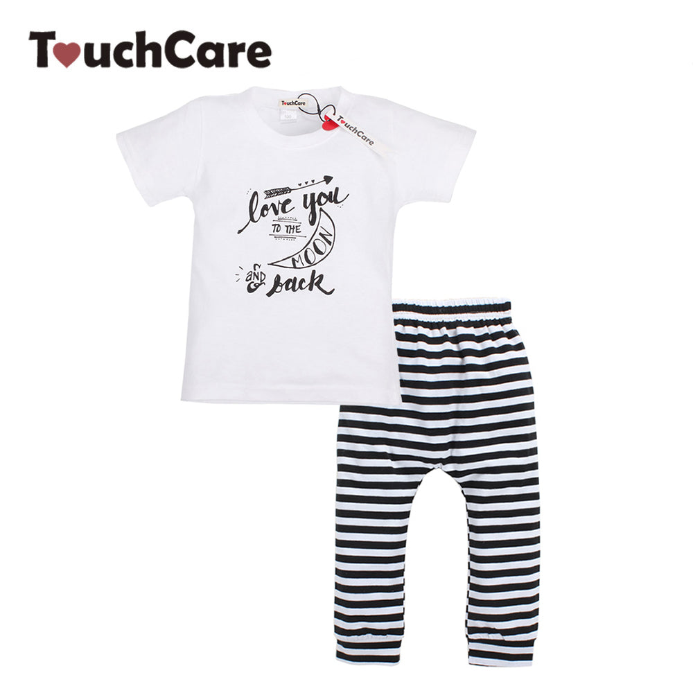 Infant, boys and girls Clothing Set. Short Sleeve t-shirt with pants-kids clothes