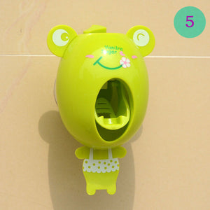 FHEAL Creative Cartoon Automatic Toothpaste Dispenser Wall Mount Stand Bathroom Sets