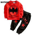 Batman Children Boys Clothing Set Long Sleeve Baby Boy Casual Sports Suits Kids 2pcs Sets Spring Autumn Clothes Tracksuits