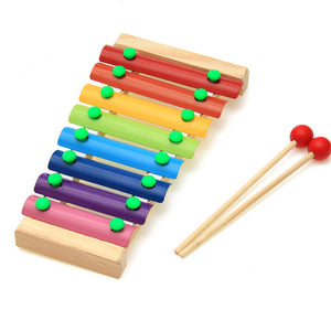 8-Note Wooden Musical Instrument Toy