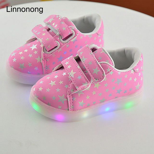 Kids Luminous Sneakers With LED Light
