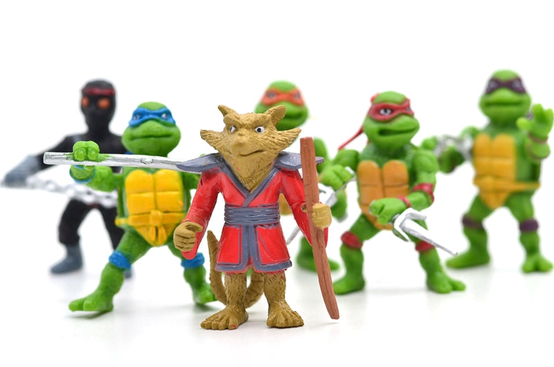 5cm tall Ninja toys- Leonardo- Raphael, and Michelangelo Model Toy Cake Toppers- Action Figure Toys  6PCS/SET