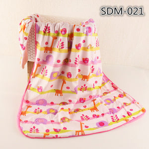 JUST CUTE Cartoon Baby blankets thicken double layer fleece infant envelope stroller wrap for newborn baby bedding blanket