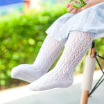 1 Pair Baby Boys Girls Soft Thin Lace Mesh Cotton Socks Newborn Toddler Infant Knee High Solid Long Sock Leg Warm Children