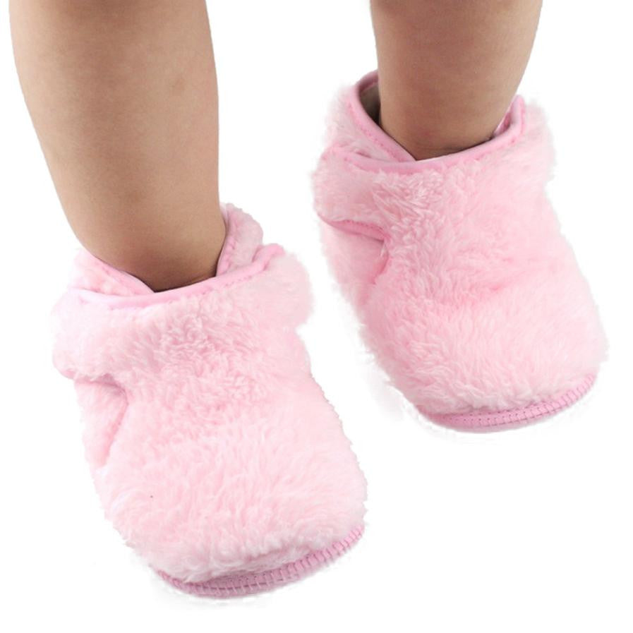 1 Pair Lovely Baby Girls Soft Sole Crib Prewalker Shoes- For Babies- Anti-skid- First Walkers