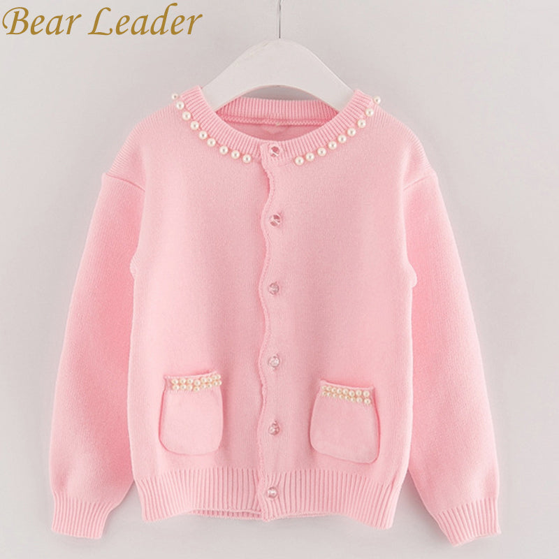 Adorable Girls Sweaters-  Long Sleeve Outerwear Open Stitch Knitwear Pockets Design for kids