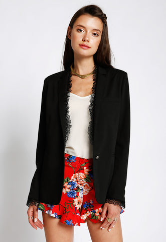 Lace Trim Blazer