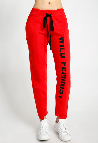 Cropped Graphic Joggers