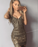 Glitter Bardot mini dress