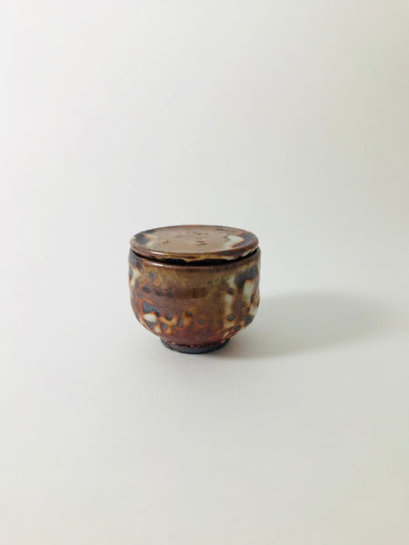 Woodfired Tea Cup with Lid