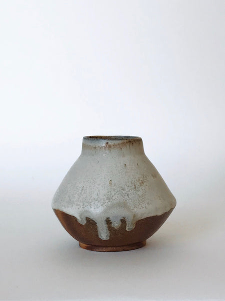 Woodfired Angular Drip Vase
