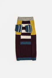 Crazy Stripe Sweater, Burgundy - allwaggers.com