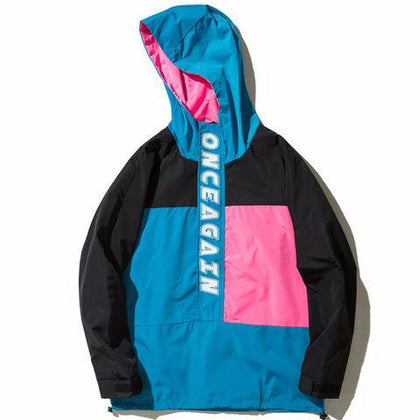 Onceagain Hooded Windbreaker