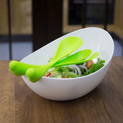 High Quality Extra Large Kitchen Salad Bowl with Creative Fork & Spoon
