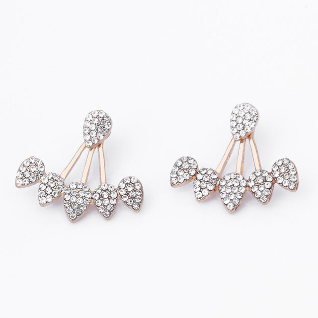 simulated quality oil butterfly drop stud bow gold pearl high drops delicate pink earrings with color anenjery of products knot