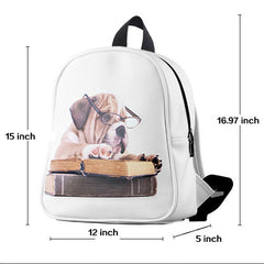 leather backpack dimensions