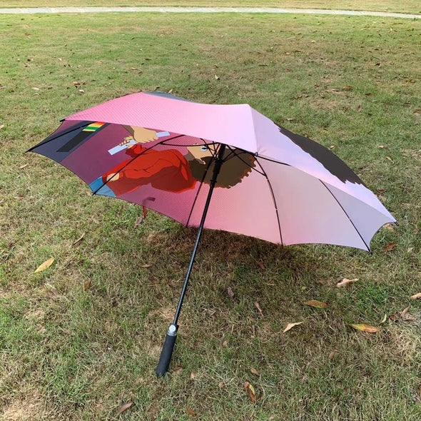 Pass the Torch Huey Inspired 60 inch Golf Umbrella *Ready to Ship* - Reflections By Zana