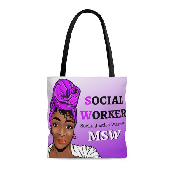 Purple MSW Social Worker Tote