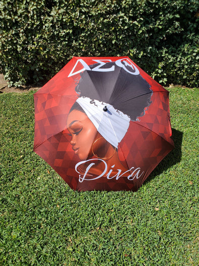 "Delta Sigma Theta ""Diva"" Deluxe 60 inch Umbrella *Ready to Ship* - Reflections By Zana"