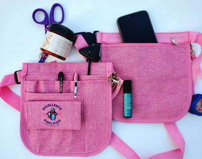 RBZ Essential Healthcare Cuties 'Passion Pink' Organizer Waist Bag or Fanny Pack for Nurses & Healthcare Heroes