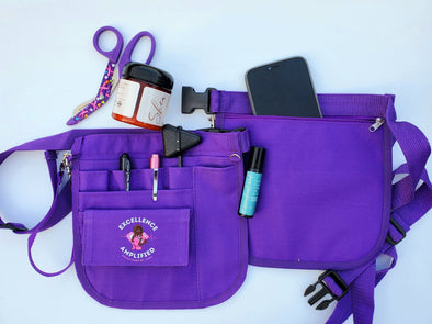 RBZ Essential Healthcare Cuties 'Royal Purple' Bundle Organizer Waist Bag or Fanny Pack for Nurses & Healthcare Heroes