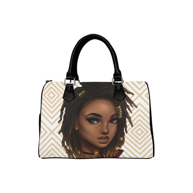 Loc'd Goddess & Diamonds Boston Handbag - Reflections By Zana