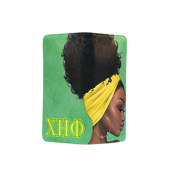 Chi Eta Phi Yellow and Green XL Clutch Wallet