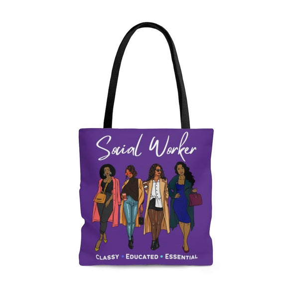 Purple Social Worker Friends Tote Bag