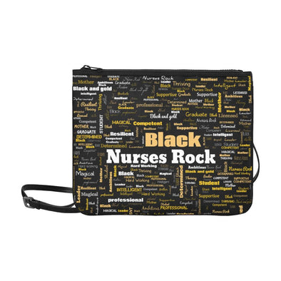 BNR Black Nurses Rock Slim Crossbody Bag - Reflections By Zana