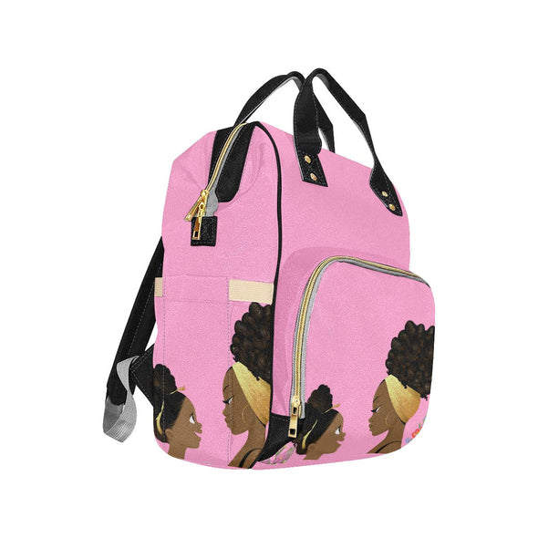 Mommy & Me Rose Gold and Pink All purpose Backpack - Reflections By Zana