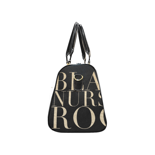 Exclusive Black Nurses Rock Swag Duffel Bag in White & Gold - Reflections By Zana