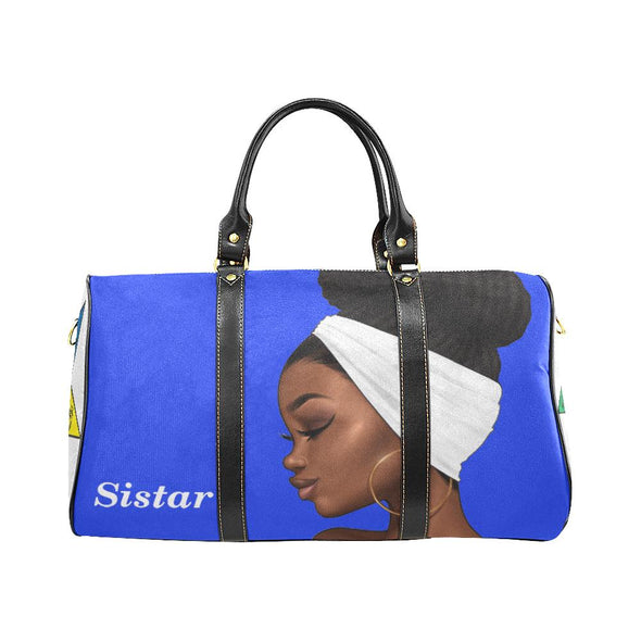 OES Travel Bag Blue Duffel Small - Reflections By Zana