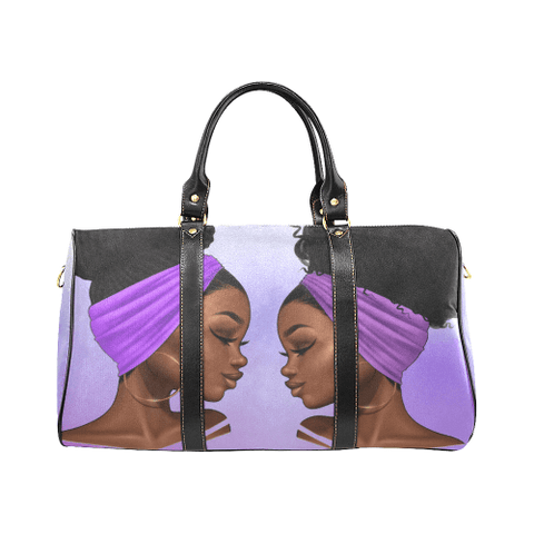 Purple Zana  Waterproof Duffel Travel Bag - Reflections By Zana