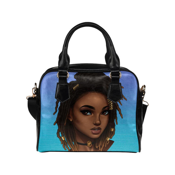 Deep Blu Loc'd Goddess Crossbody Handbag - Reflections By Zana